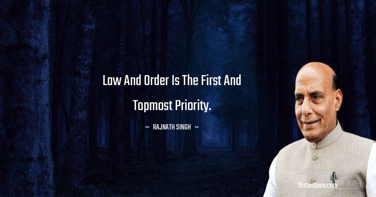 Rajnath Singh Thoughts