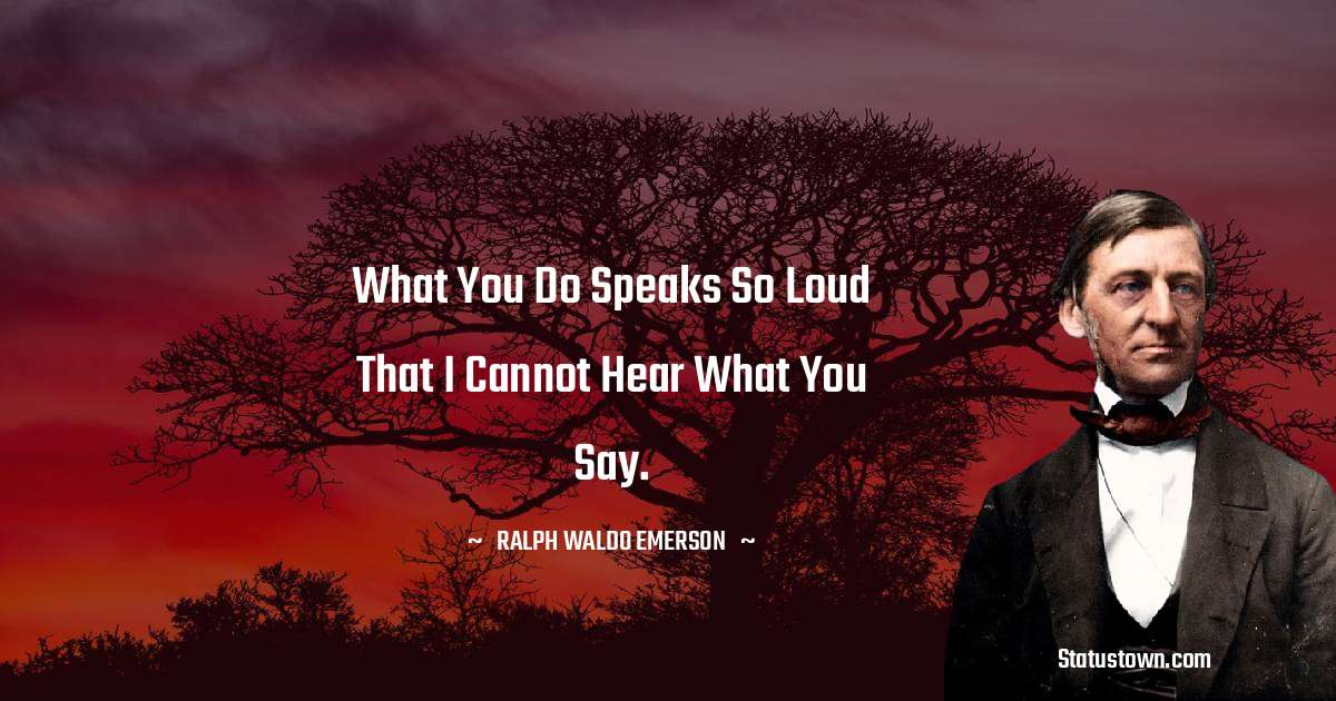 Ralph Waldo Emerson Positive Thoughts