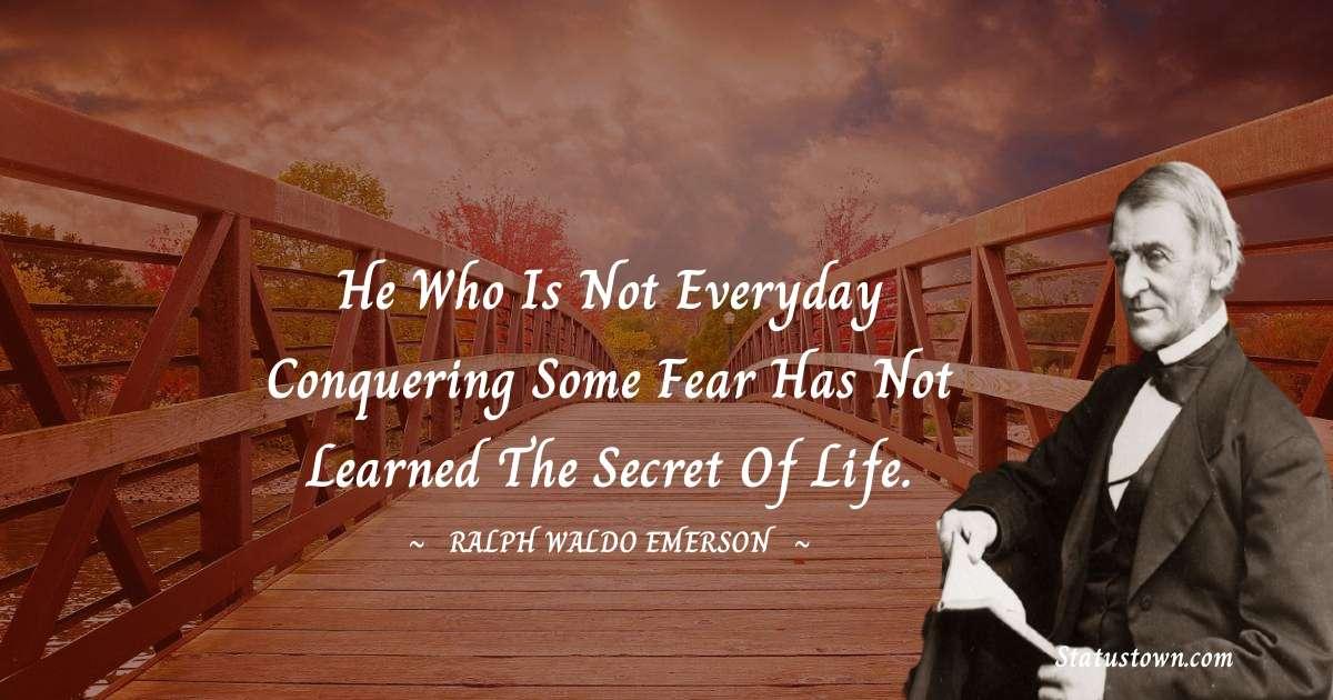 Ralph Waldo Emerson Short Quotes