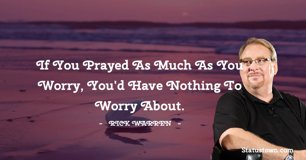 Rick Warren Quotes images