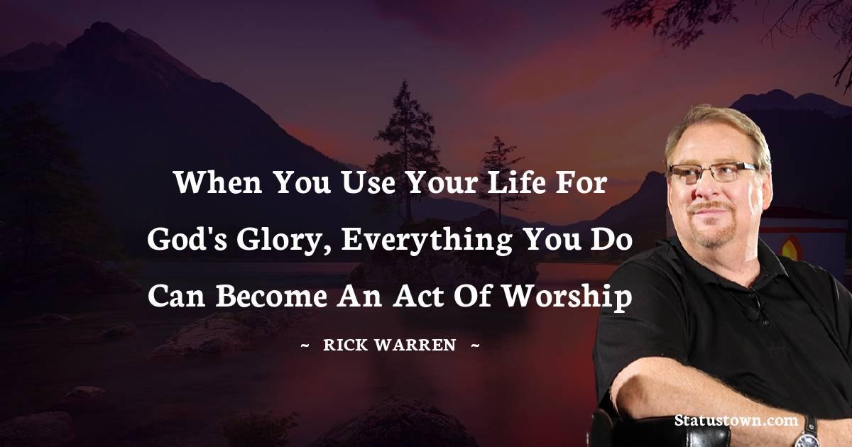 Rick Warren Short Quotes