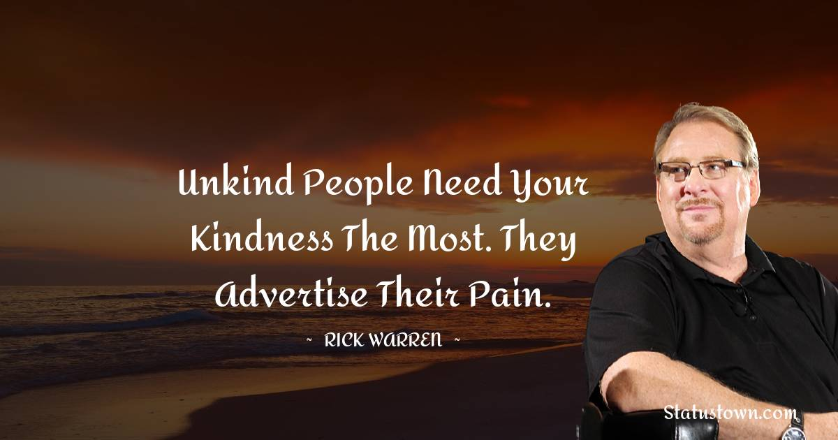 Rick Warren Inspirational Quotes