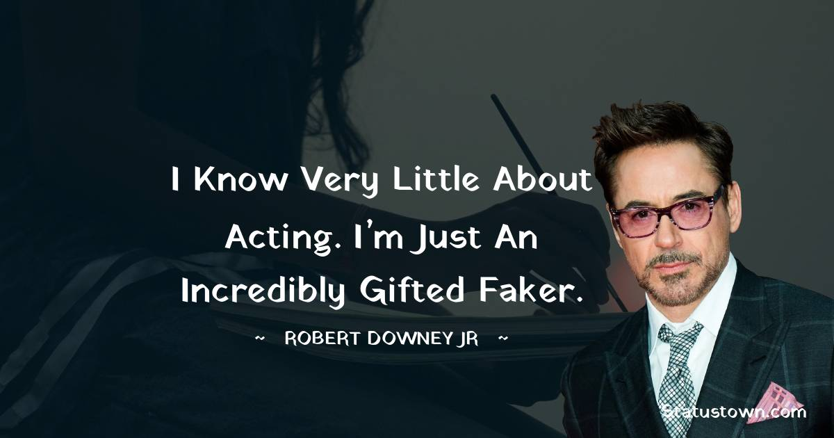 Robert Downey Jr Short Quotes