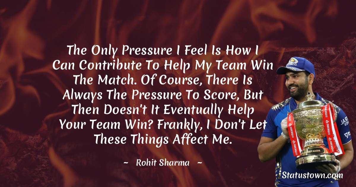 Rohit Sharma motivational Status