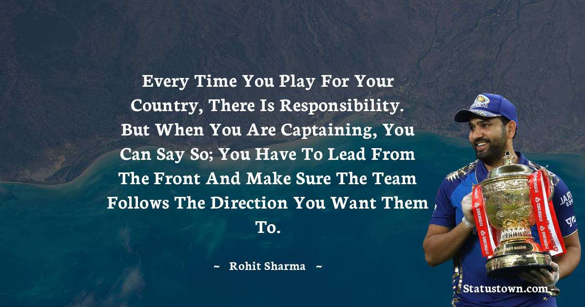 Rohit Sharma inspirational quotes