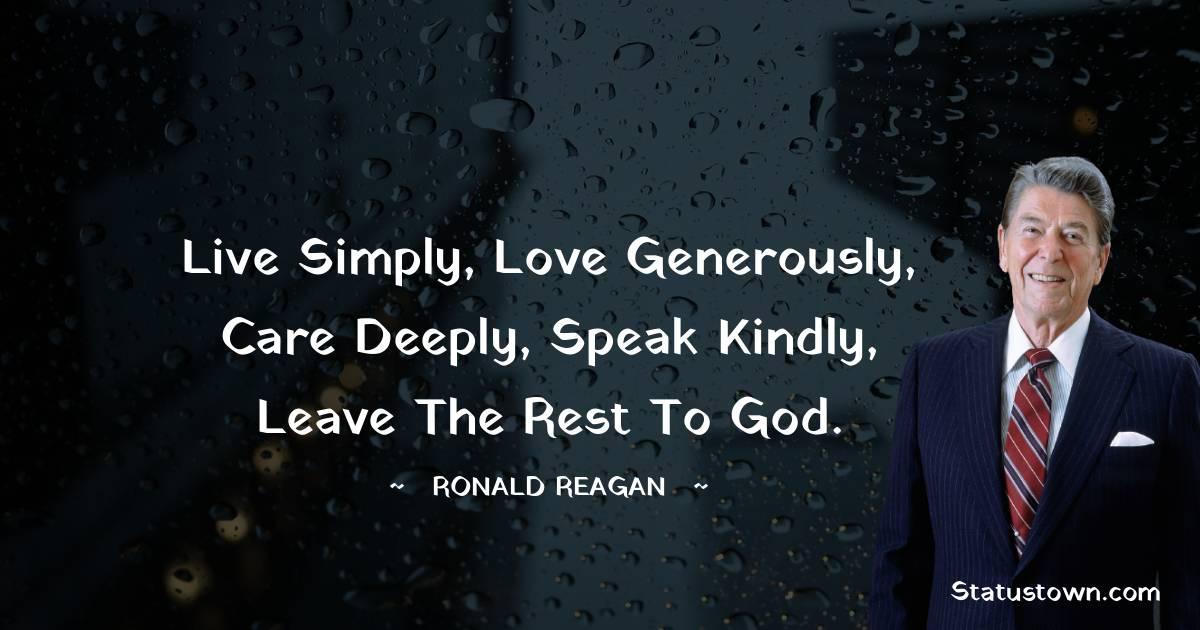 Ronald Reagan Unique Quotes