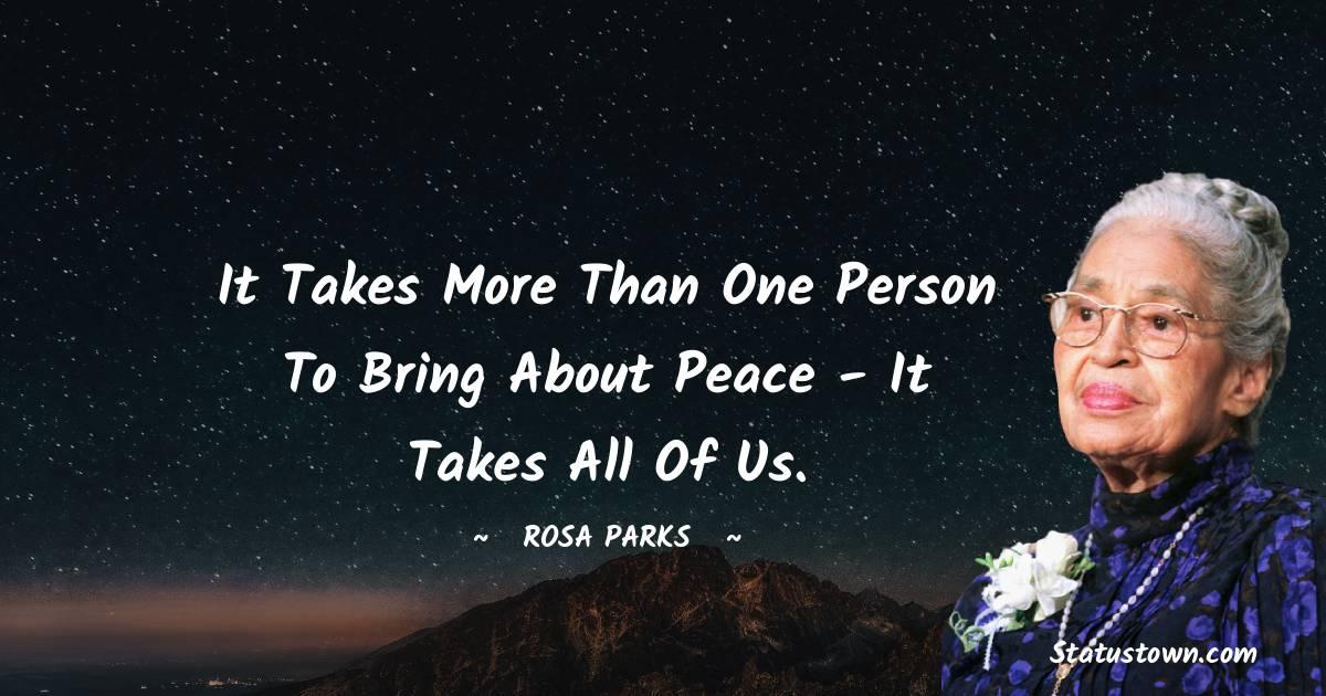 Rosa Parks Positive Quotes