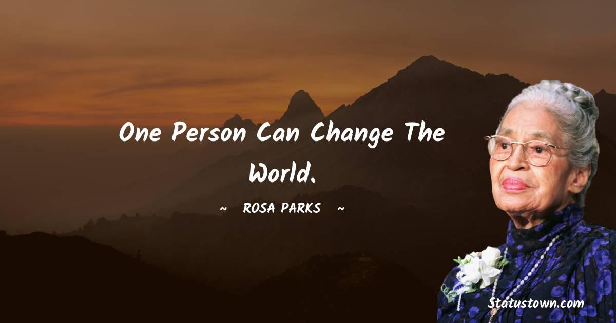 Rosa Parks Unique Quotes