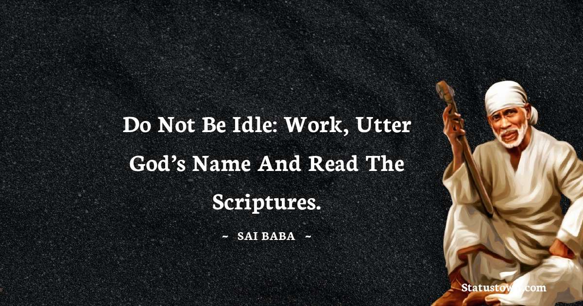 Sai Baba Quotes images