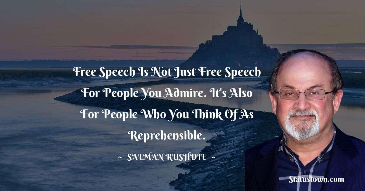 Salman Rushdie Unique Quotes