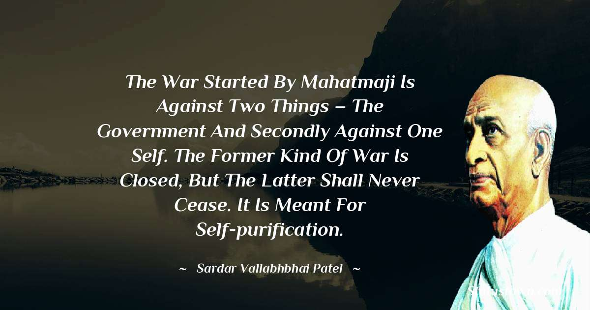 Sardar Vallabhbhai patel Positive Thoughts