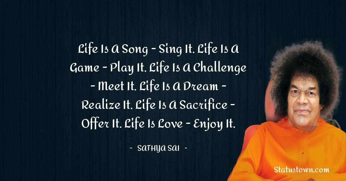 Sathya Sai Baba Motivational Quotes