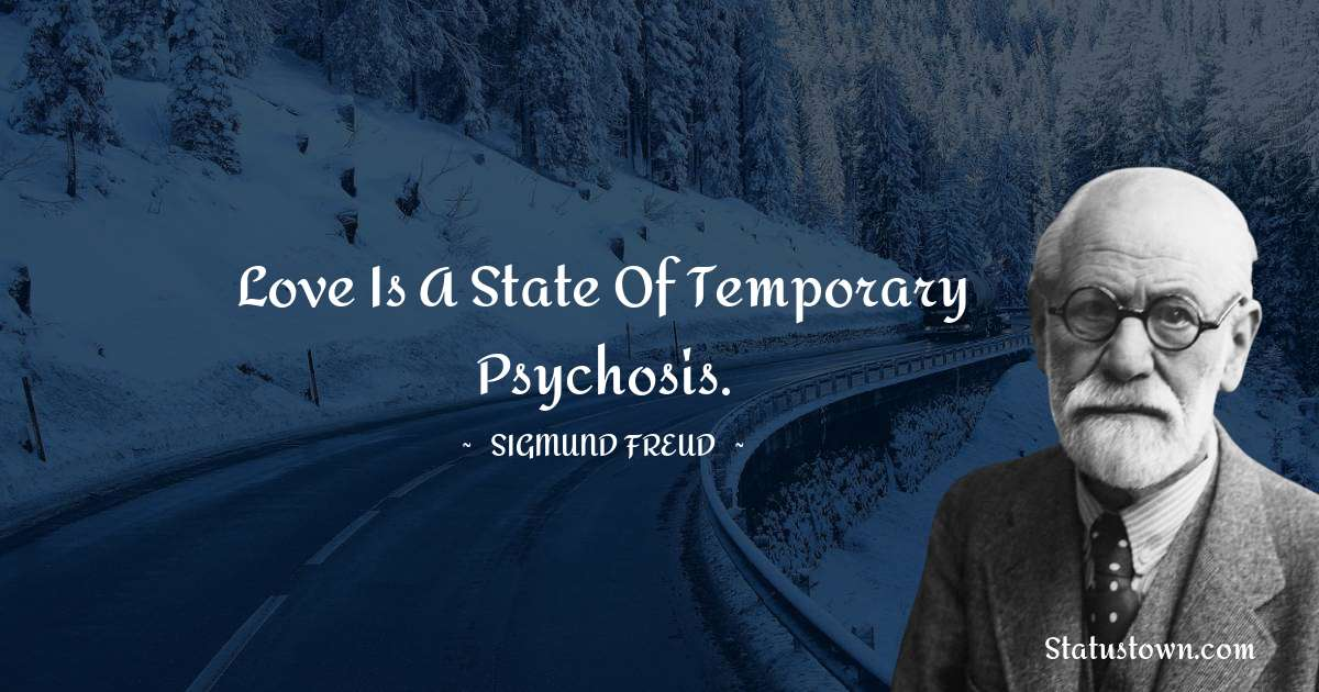 Love is a state of temporary psychosis.