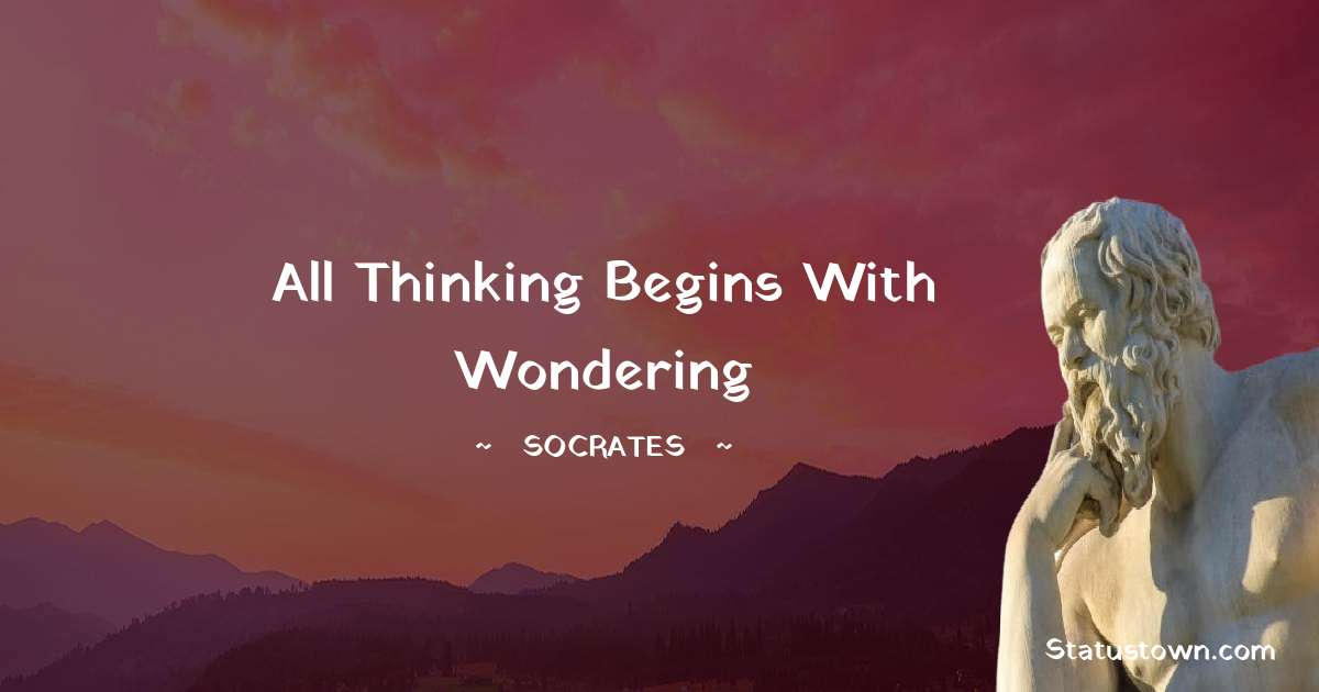 All thinking begins with wondering