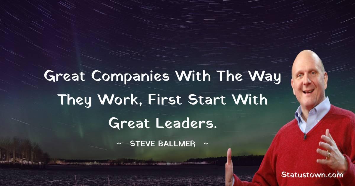 Steve Ballmer Inspirational Quotes