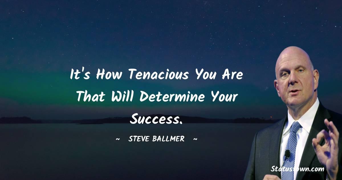 Steve Ballmer Positive Quotes