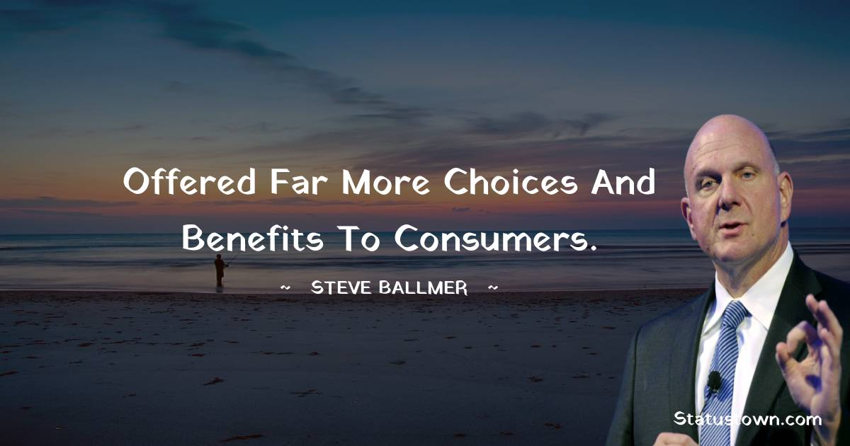 Steve Ballmer Thoughts
