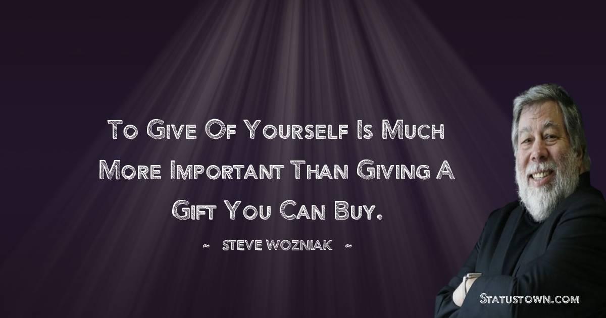 Steve Wozniak Status