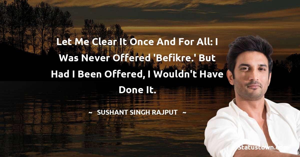 Sushant Singh Rajput Quotes for Success