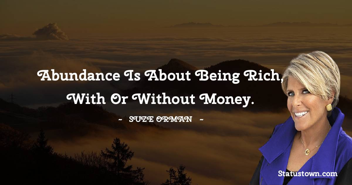Suze Orman Motivational Quotes