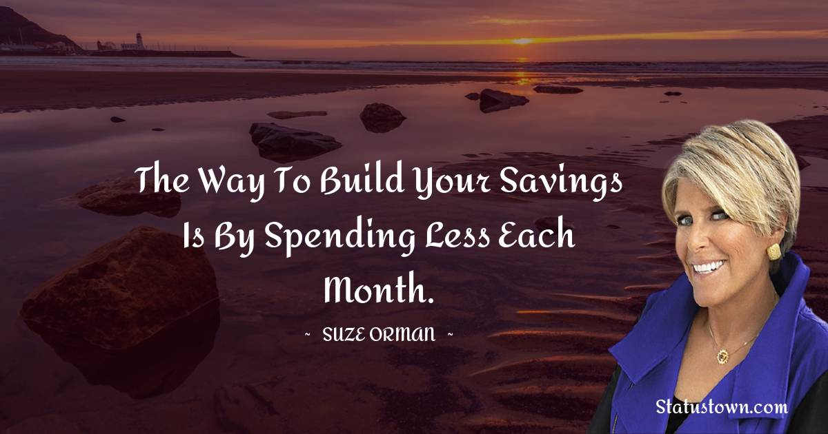 Suze Orman Inspirational Quotes