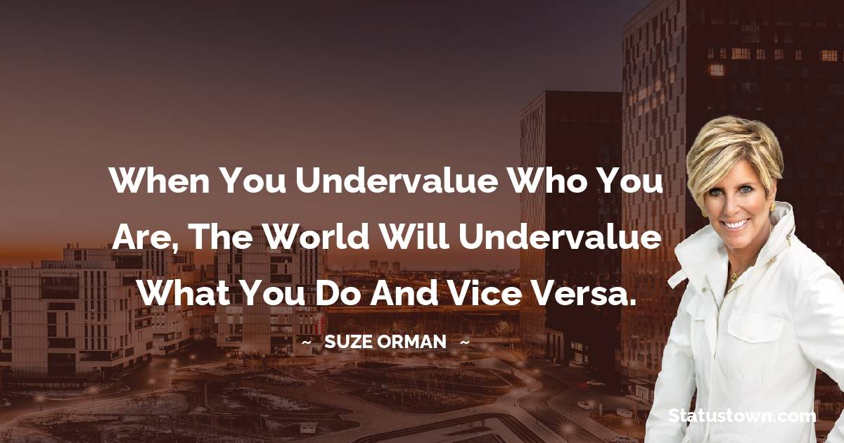 Suze Orman Thoughts