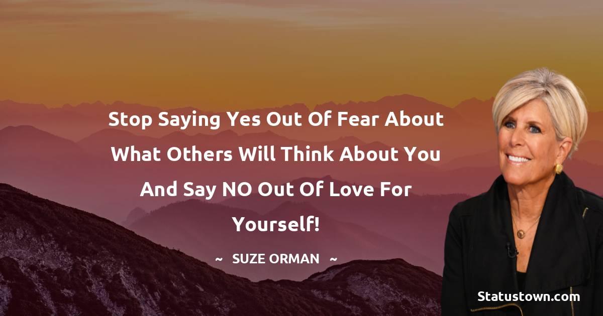 Suze Orman Unique Quotes