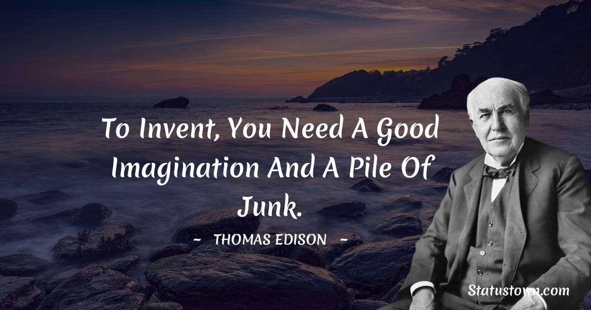 Thomas Edison Quotes images