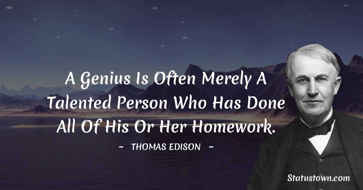 Thomas Edison Positive Quotes