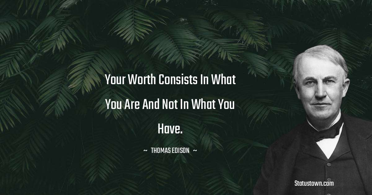 Thomas Edison Thoughts