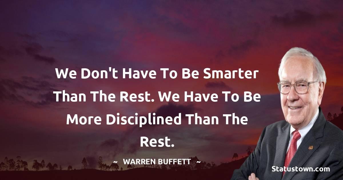Warren Buffett Thoughts