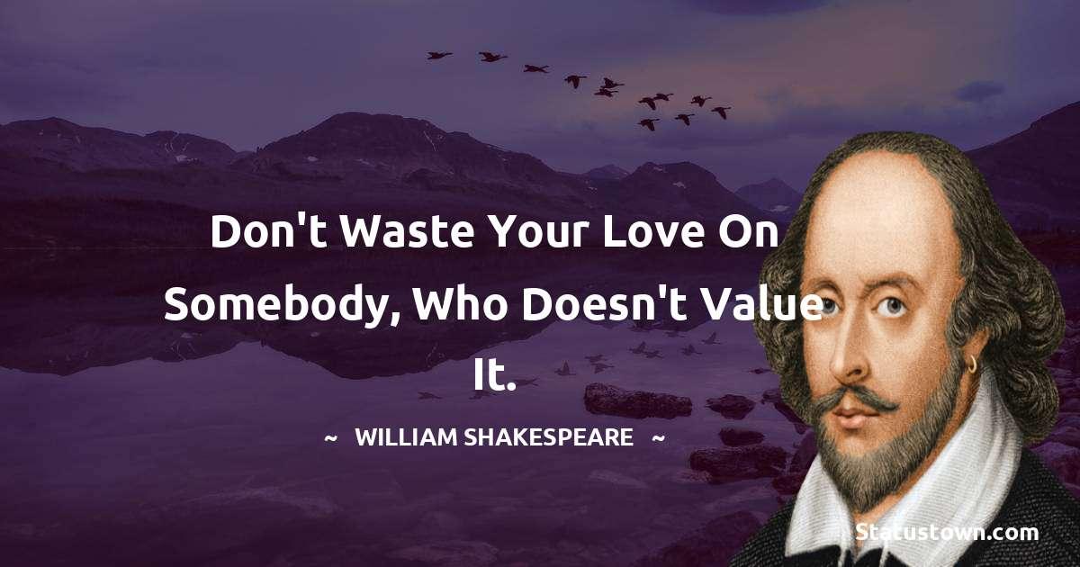 william shakespeare Unique Quotes
