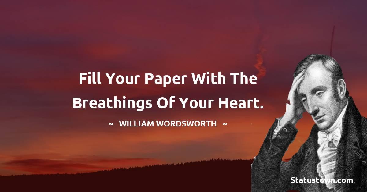 William Wordsworth Short Quotes